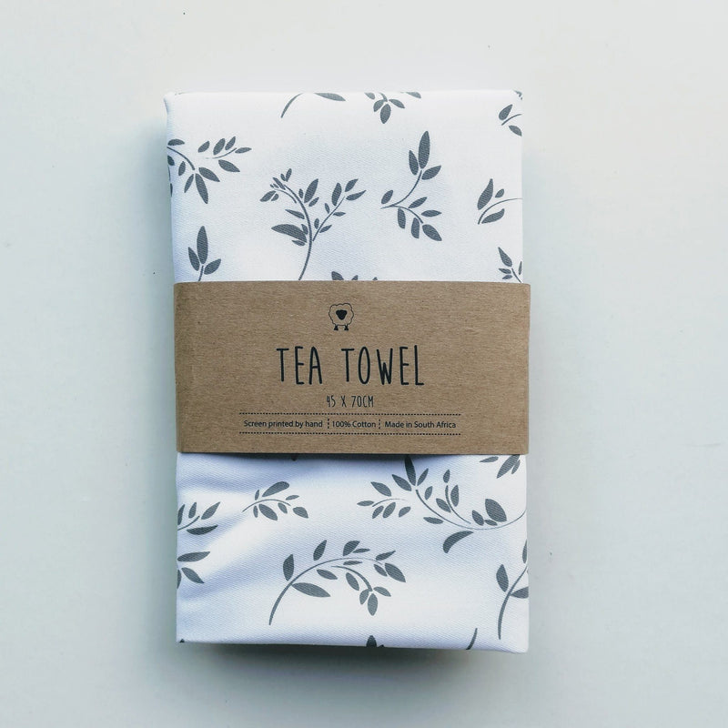 Hartlam Textiles White Cuttings Cotton Tea Towel home & decor Hartlam Textiles & Prints