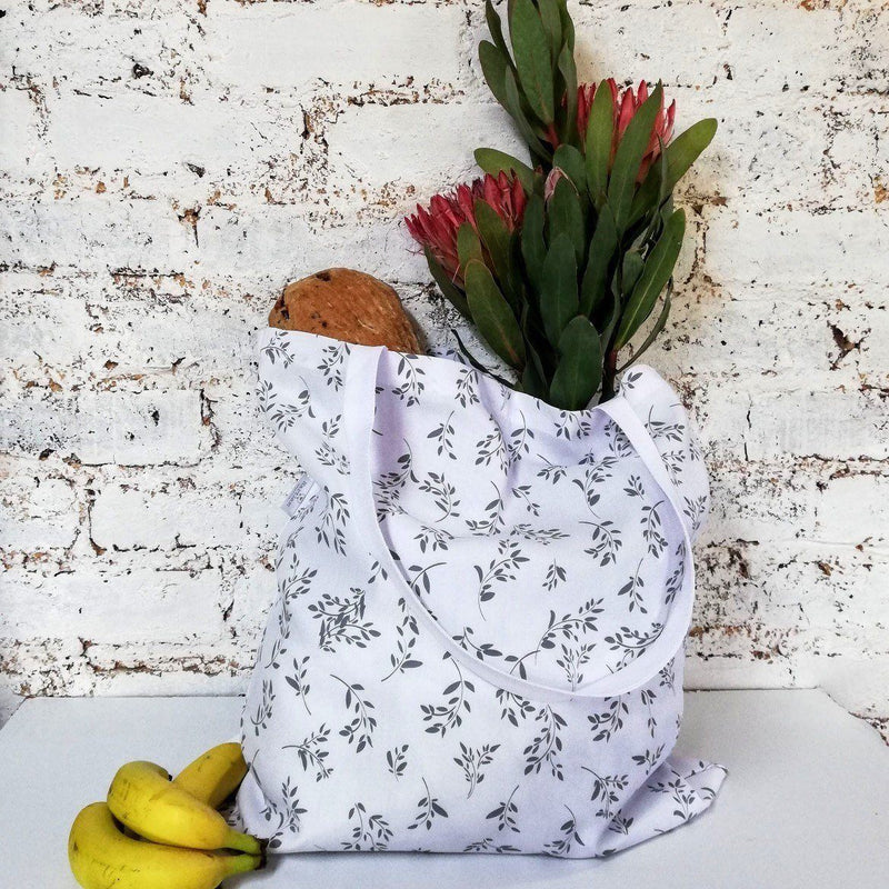 Hartlam Textiles White Cuttings Foldable Shopper Bag home & decor Hartlam Textiles & Prints