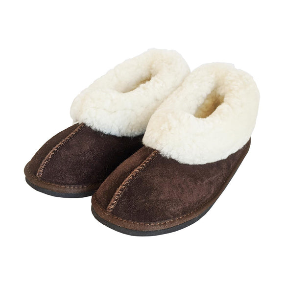 Karu Cosy Chocolate Sheepskin & Wool Slippers clothing & accessories Karu Slippers
