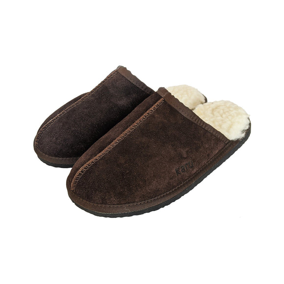 Karu Mule Chocolate Sheepskin & Wool Slippers clothing & accessories Karu Slippers