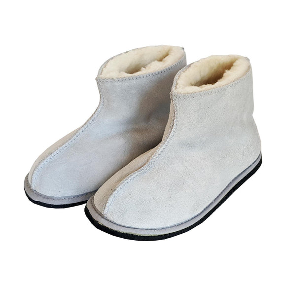 Karu Yeti Grey Sheepskin Slippers clothing & accessories Karu Slippers