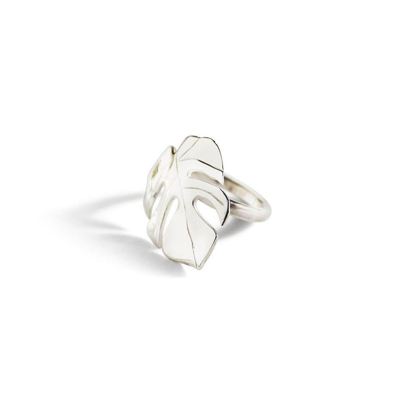 Katmeleon Monstera I Ring clothing & accessories Katmeleon Jewellery silver