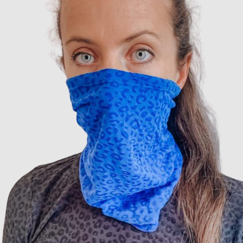 Lara Fay ActiveWear Blue Into the Wild Face Cover clothing & accessories Lara Fay