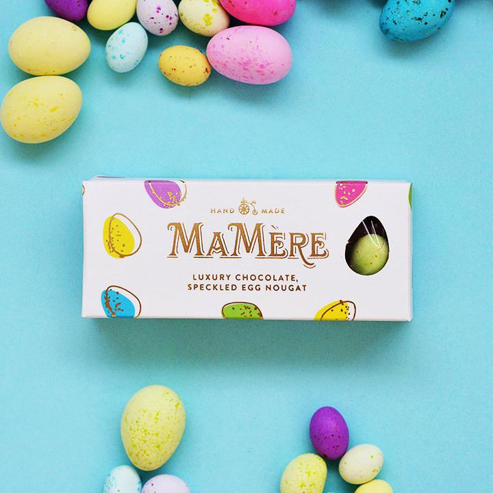 Ma Mère Confections Luxury Chocolate Speckled Egg Nougat 65g food Ma Mère Confections
