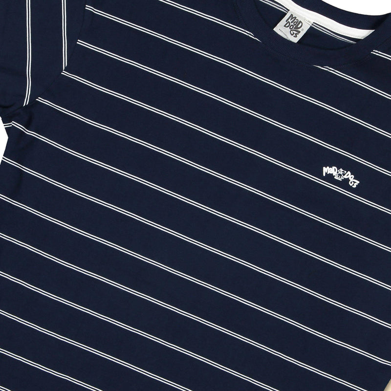 Mad Dogs Cadet Navy Classic Stripe Unisex T-Shirt clothing & accessories Mad Dogs