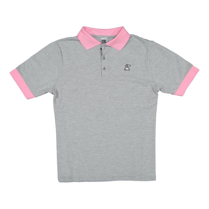 Mad Dogs Comet Grey & Pink Elite Mens Polo Shirt clothing & accessories Mad Dogs