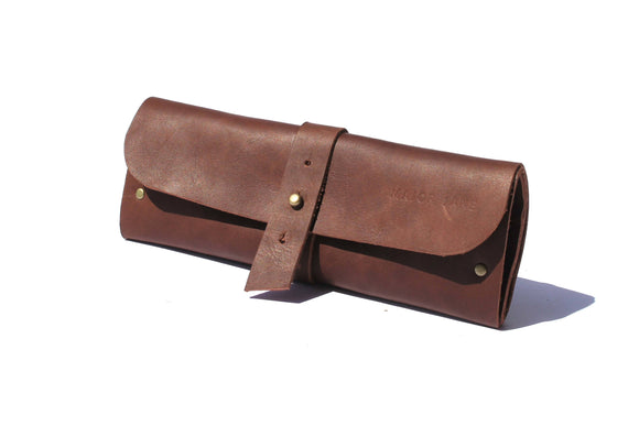 Major Jane Genuine Leather Jewellery Roll clothing & accessories Major John chocolate