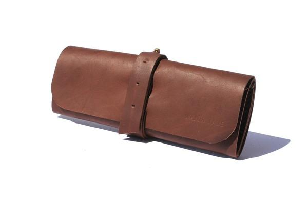 Major Jane Genuine Leather Makeup Roll clothing & accessories Major John chocolate