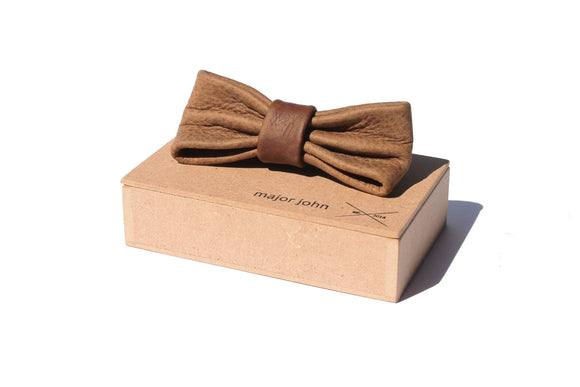 Major John Genuine Leather Bow Ties clothing & accessories Major John brown