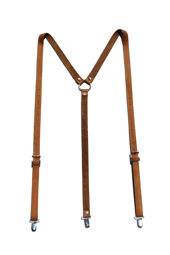 Major John Genuine Leather Suspenders clothing & accessories Major John medium tan