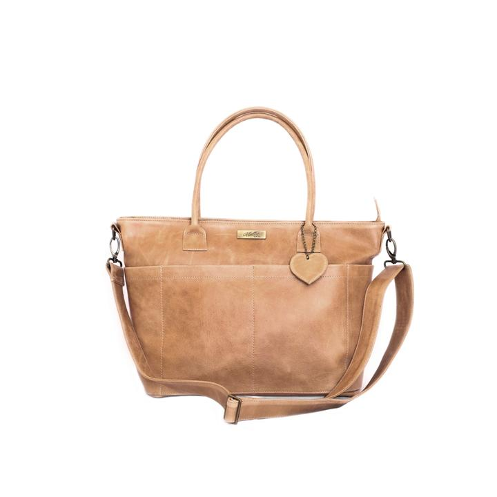 Mally Beula Leather Baby Bag baby & kids Mally Leather Bags tan
