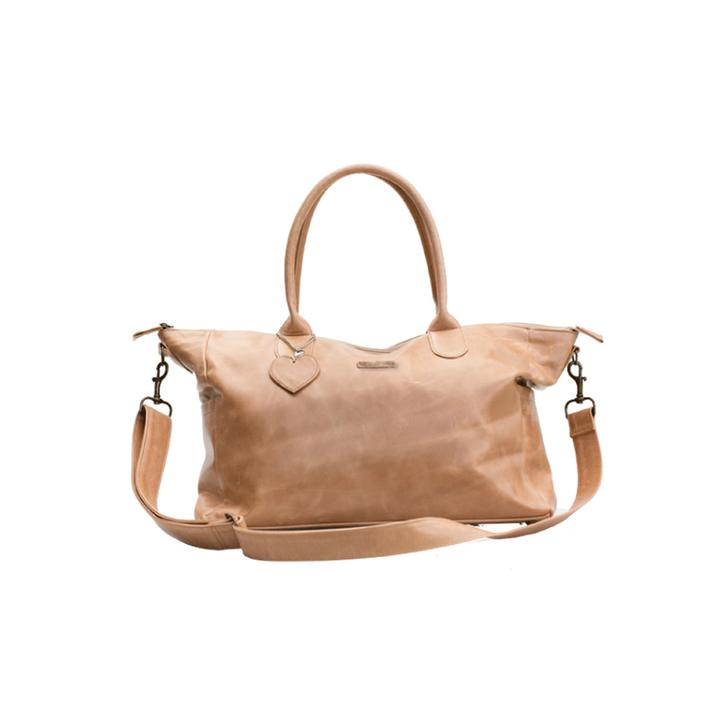 Mally Classic Leather Baby Bag baby & kids Mally Leather Bags tan