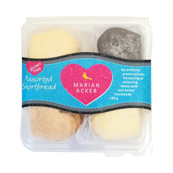Marian Acker Gluten-free Assorted Shortbread Biscuits 150g food Marian Acker