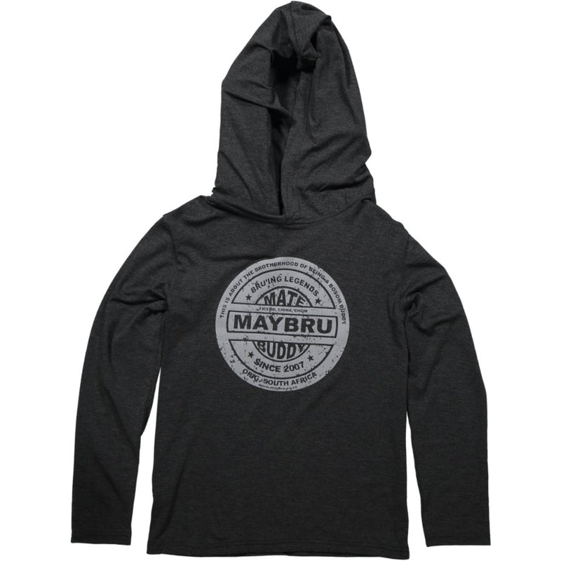 MayBru 'Beer Label' Kids Charcoal Melange Light Weight Hoodie baby & kids MayBru