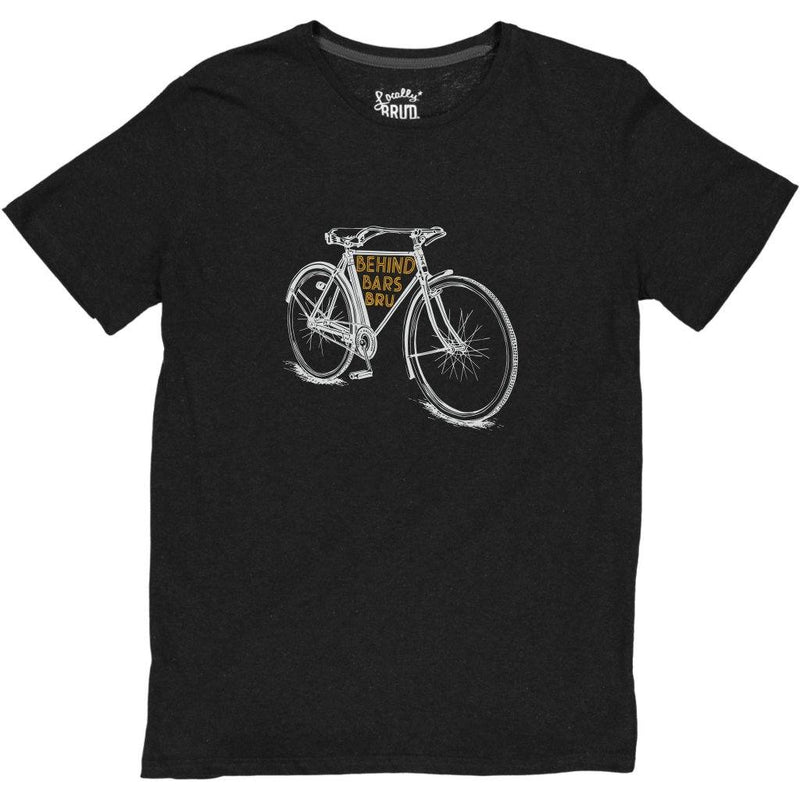 MayBru Behind Bars Black Melange Mens T-Shirt clothing & accessories MayBru