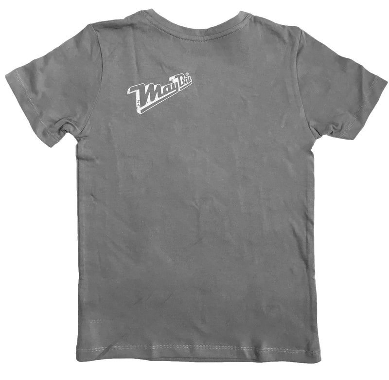 MayBru 'Behind Bars' Kids Medium Grey T-Shirt baby & kids MayBru