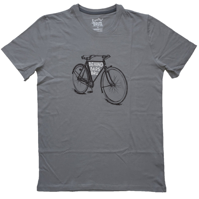 MayBru Behind Bars Medium Grey Mens T-Shirt clothing & accessories MayBru