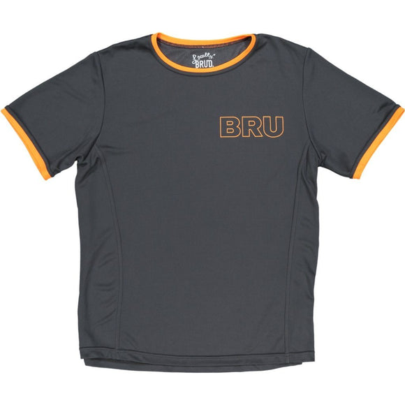 MayBru 'Bru' Charcoal/Orange Mens Sports T-Shirt clothing & accessories MayBru