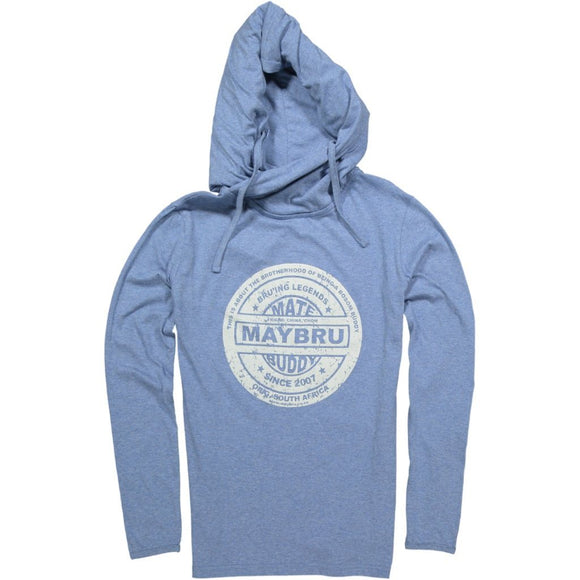 MayBru 'Buddy Label' Blue Unisex Snoody Hoodie clothing & accessories MayBru