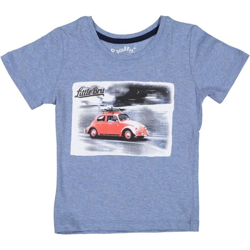 MayBru 'Buggy' Kids Blue Melange T-Shirt baby & kids MayBru 6-12 months