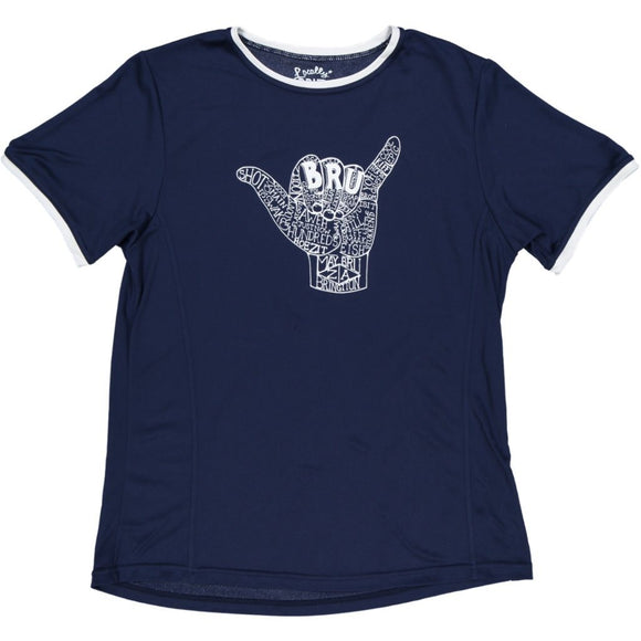 MayBru 'Handy Bru' Navy Mens Sports T-Shirt clothing & accessories MayBru