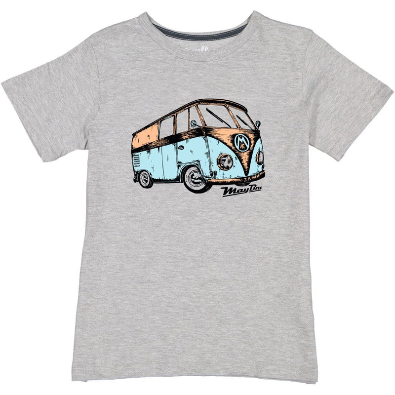 MayBru 'Kombi' Kids Grey Melange T-Shirt baby & kids MayBru 5-6 years