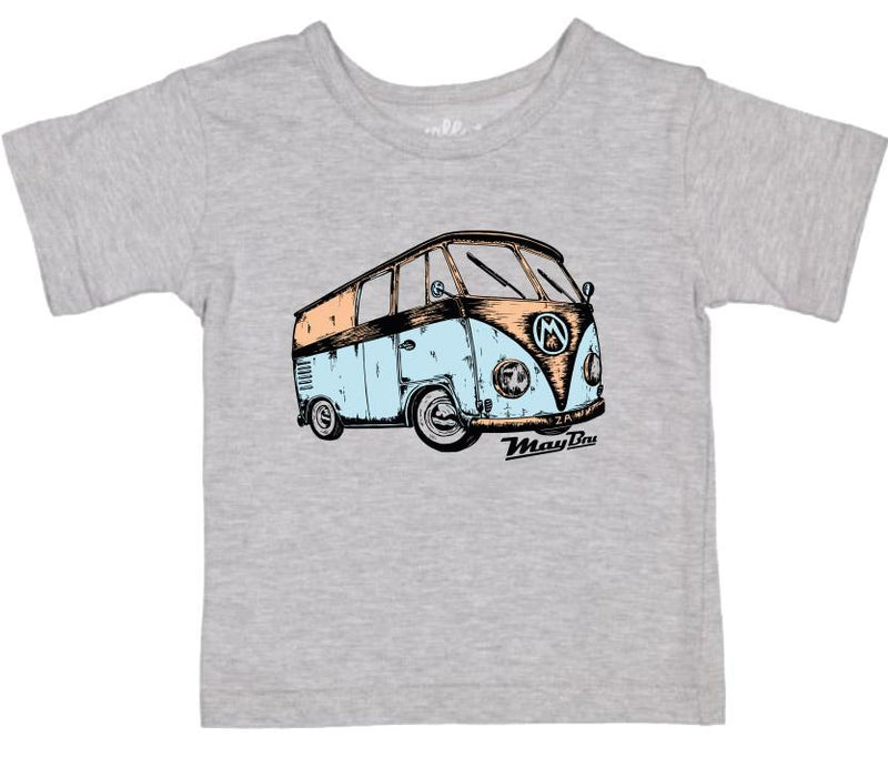 MayBru 'Kombi' Kids Grey Melange T-Shirt baby & kids MayBru 6-12 months