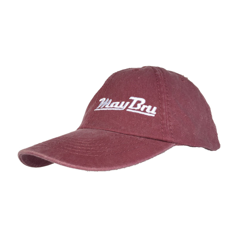 MayBru 'MayBru' Burgundy Mens Washed Cap clothing & accessories MayBru
