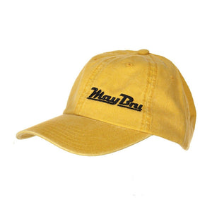 MayBru 'MayBru' Mustard Mens Washed Cap clothing & accessories MayBru