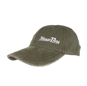 MayBru 'MayBru' Olive Mens Washed Cap clothing & accessories MayBru