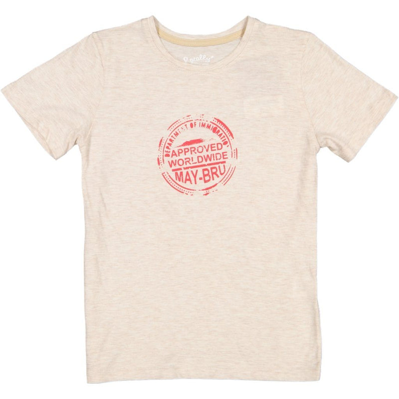 MayBru 'Passport' Kids Oatmeal T-Shirt baby & kids MayBru