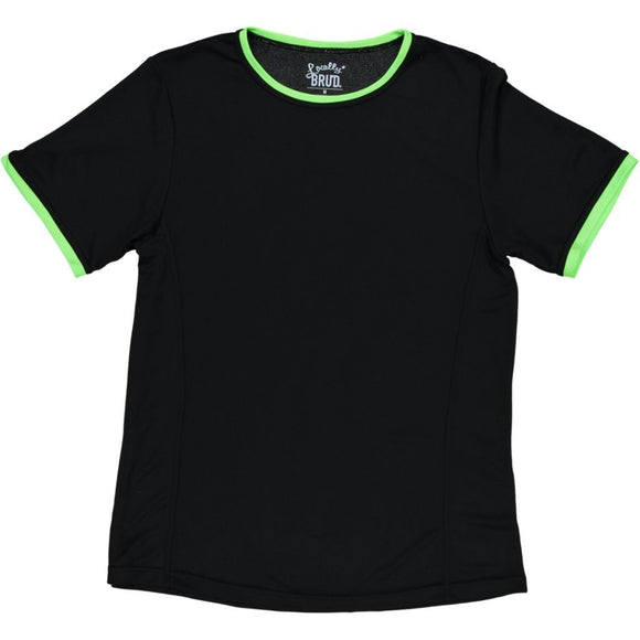 MayBru 'Signature' Black/Lime Mens Sports T-Shirt clothing & accessories MayBru