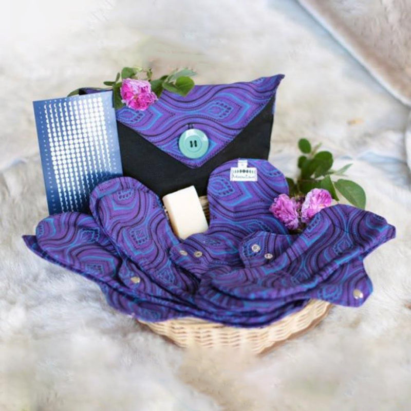 MoonTime Reusable Cotton Sanitary Pad Set lifestyle Moontime