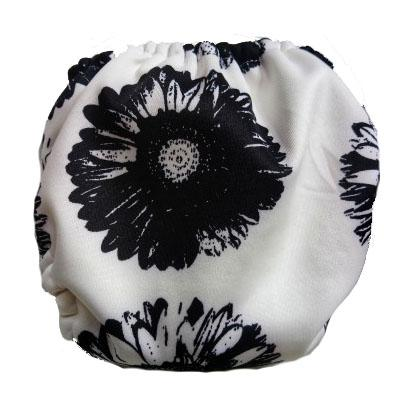 Mother Nature All-In-Three Cloth Nappy baby & kids Mother Nature Products black floral