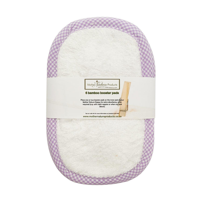 Mother Nature Nappy Booster Pads 6-Pack baby & kids Mother Nature Products white cotton