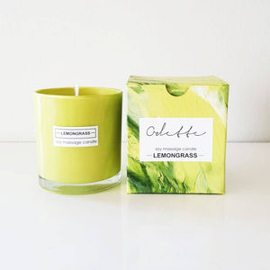 Odette Art Lemongrass Soy Massage Candle 250ml home & decor Odette Uys Art & Design