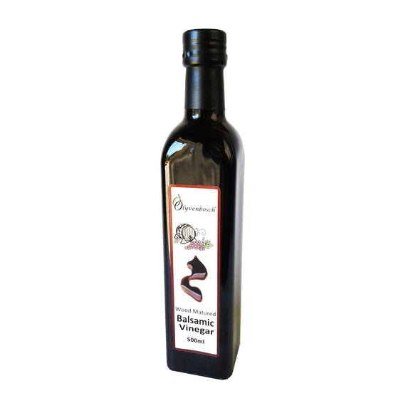Olyvenbosch Wood-Matured Balsamic Vinegar 500ml Glass Bottle food Olyvenbosch Olive Farm