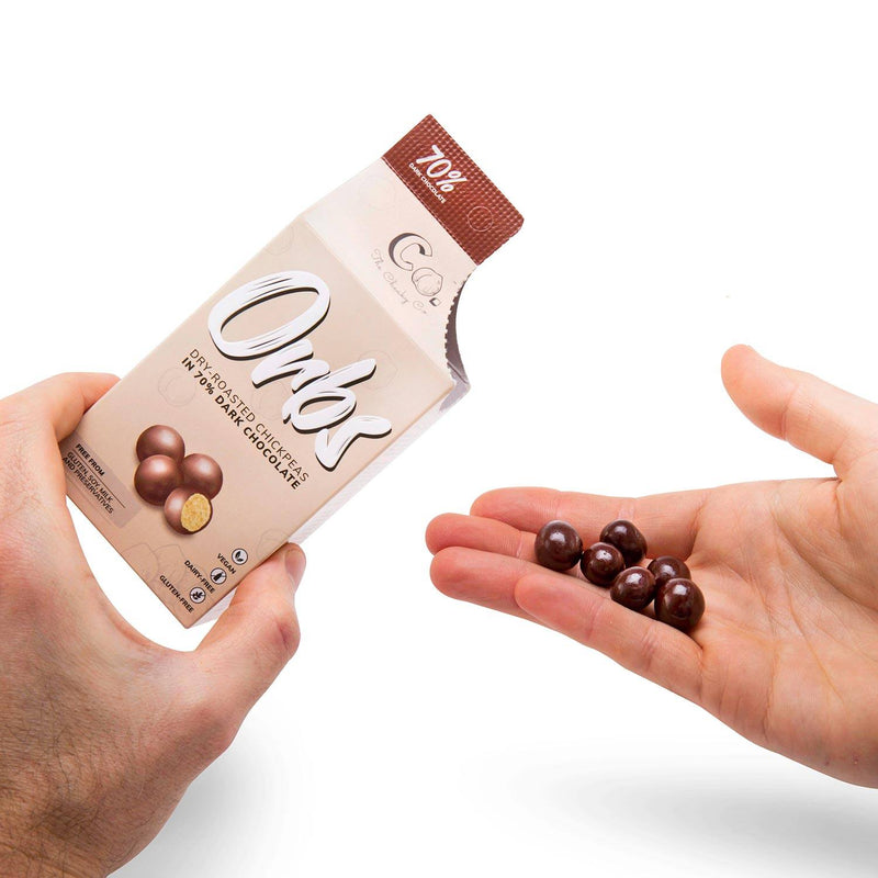 Orbs Roasted Chickpeas in Dark Chocolate 65g food Cheaky Co