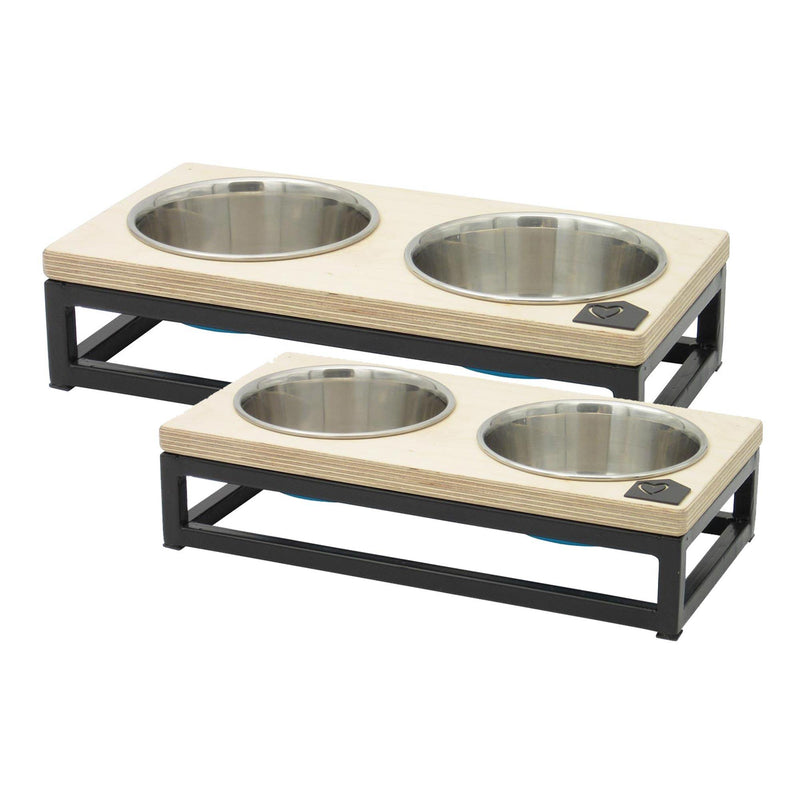 Petsville Raised Double Skye Dog Bowl Stands pets Petsville