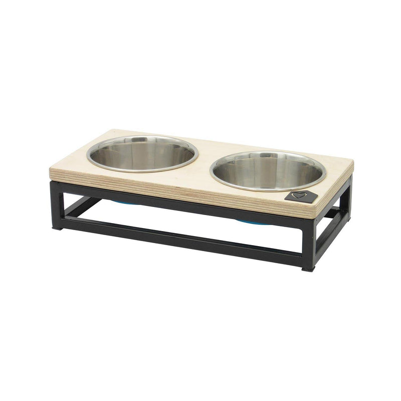 Petsville Raised Double Skye Dog Bowl Stands pets Petsville small