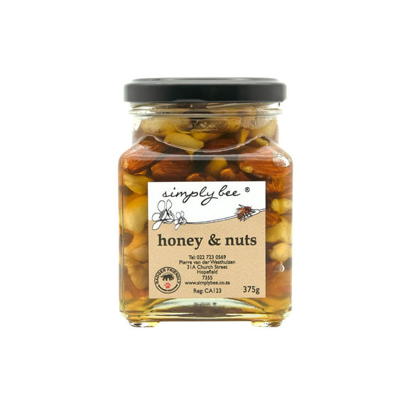Simply Bee Honey and Nuts in Glass 375g food Simply Bee