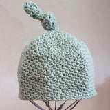 Simply Karoo Cotton Top Knot Beanies baby & kids Simply Karoo green