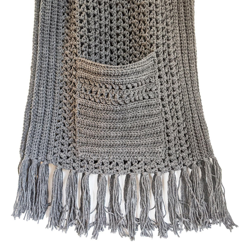 Simply Karoo Perfect Pockets Woollen Shawl clothing & accessories Simply Karoo grey