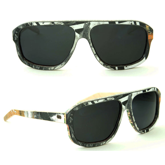Sk8shades 5-0 Sunglasses clothing & accessories Sk8shades black-white-orange