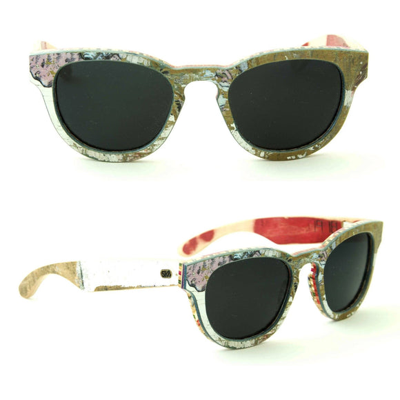 Sk8shades Hurricane Sunglasses clothing & accessories Sk8shades white-green