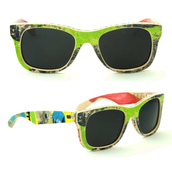 Sk8shades Layback Sunglasses clothing & accessories Sk8shades black-green