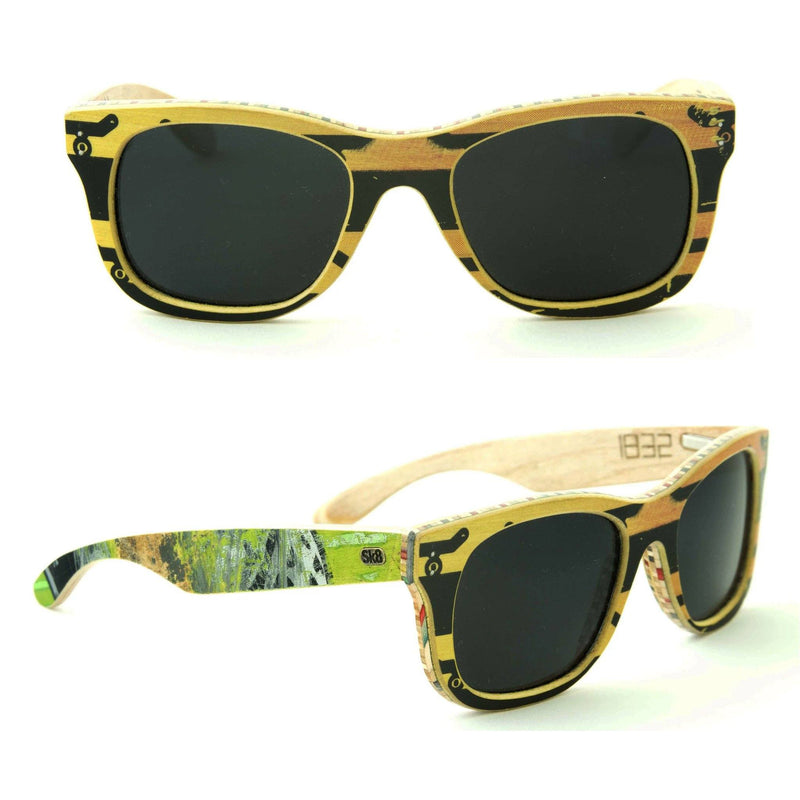 Sk8shades Layback Sunglasses clothing & accessories Sk8shades black-yellow