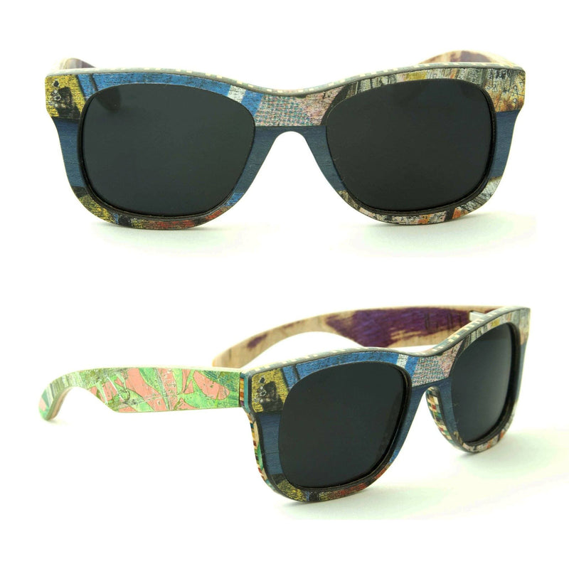 Sk8shades Layback Sunglasses clothing & accessories Sk8shades blue-combi