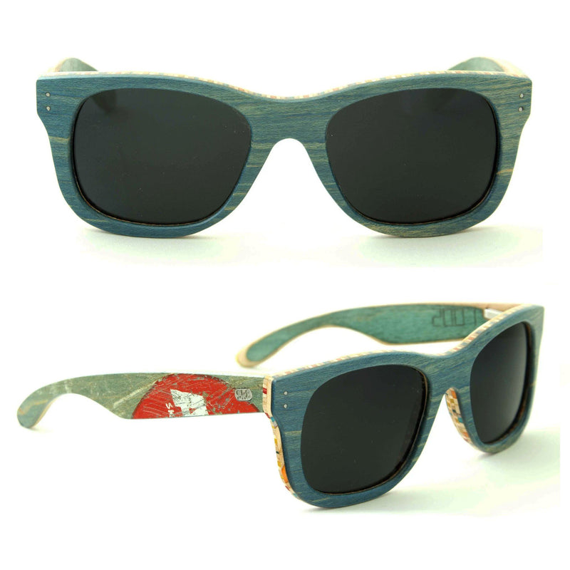 Sk8shades Layback Sunglasses clothing & accessories Sk8shades blue-fade
