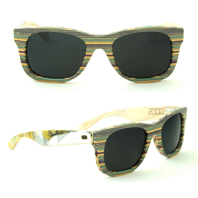 Sk8shades Layback Sunglasses clothing & accessories Sk8shades grey-yellow-purple-blue